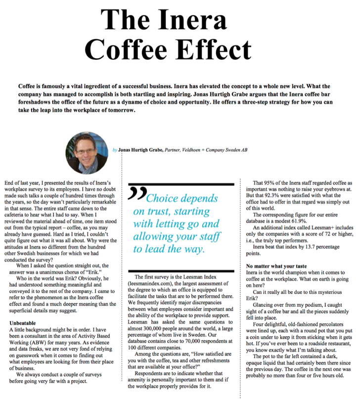 The Inera Coffee Effect