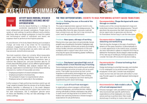 Executive Summary The Impact of Activity Based Working