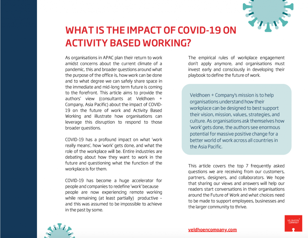 The Impact of COVID-19 on Activity Based Working